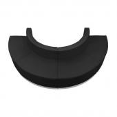 "Titan Series Leather Reception Configuration Style ""P"" 4 Pieces ""Black"""