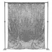 Silver Sequin Backdrop Curtain W 4 Rod Pocket By Eastern Mills
