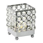 DecoStar™ Real Crystal Square Candle holder - SM