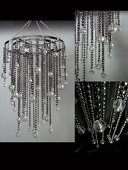 DecoStar™ Small Steel Grey Acrylic Drop Chandelier