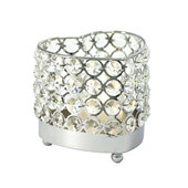 DecoStar™ Real Crystal Heart Candle Holder - SM