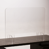 "Standard Nail Salon Contact Barrier Shield - Portable Clear Acrylic - 24""H x 31.5""W"