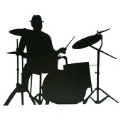 Swing Time Tempo Drummer Cut Out Silhouette