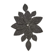 OASIS Corsage Back - Glitter Black - 3/Pack