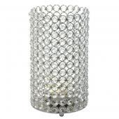 """DecoStar™ Crystal Candle Cylinder / Pillar - Large  6""""W x 11""""H"""