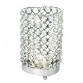 DecoStar™ Real Crystal Heart Candle Holder - LG