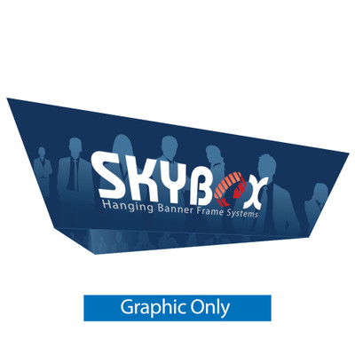 10ft Triangle Tapered Hanging Banner (Double Sided Graphic Only)