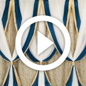 Teal and Gold Backdrop - Instructional Video