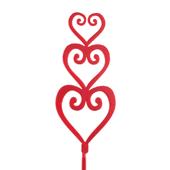 Open Heart OASIS Floral Picks - Triple Open Heart - 12/Pack