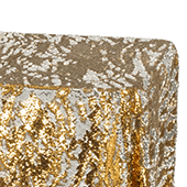 2 Tone Flip Up Reversible Sequin Tablecloth - Gold and Silver - Size Options