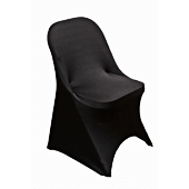 200 GSM Grade A Quality Folding Chair Cover By Eastern Mills - Spandex/Lycra - Black