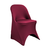 200 GSM Grade A Quality Folding Chair Cover By Eastern Mills - Spandex/Lycra - Burgundy