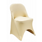 200 GSM Grade A Quality Folding Chair Cover By Eastern Mills - Spandex/Lycra - Champagne