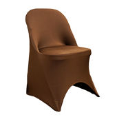 200 GSM Grade A Quality Folding Chair Cover By Eastern Mills - Spandex/Lycra - Chocolate Brown