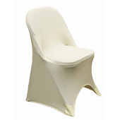 200 GSM Grade A Quality Folding Chair Cover By Eastern Mills - Spandex/Lycra - Ivory