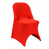 200 GSM Grade A Quality Folding Chair Cover By Eastern Mills - Spandex/Lycra - Red