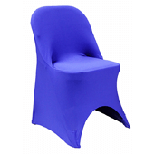 200 GSM Grade A Quality Folding Chair Cover By Eastern Mills - Spandex/Lycra - Royal Blue