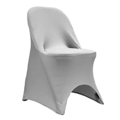 200 GSM Grade A Quality Folding Chair Cover By Eastern Mills - Spandex/Lycra - Silver