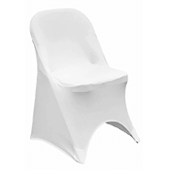 200 GSM Grade A Quality Folding Chair Cover By Eastern Mills - Spandex/Lycra - White