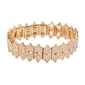 OASIS Atlantic Brand Vintage Floral Wristlets - Gatsby Gold - 1/Pack