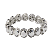 OASIS Atlantic Brand Vintage Floral Wristlets - Halo Silver - 1/Pack