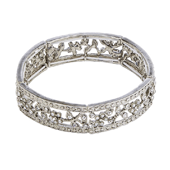 OASIS Atlantic Brand Vintage Floral Wristlets - Rosabella Silver - 1/Pack