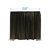 "*IFR* 116"" Wide Blackout NightScape Drape Panel w/ Sewn Rod Pocket (IFR) - Black"