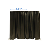 "*IFR* 58"" Wide Blackout NightScape Drape Panel w/ Sewn Rod Pocket (IFR) - Black"