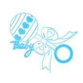 Baby Boy OASIS Floral Picks and Cardholder - Rattle - 12/Pack