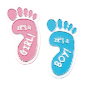 Baby Boy/Girl OASIS Floral Picks and Cardholder - Foot - 12/Pack