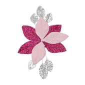 OASIS Corsage Back - Glitter Pink & Silver - 3/Pack