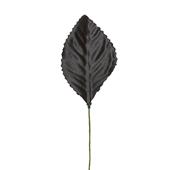 """OASIS Corsage Leaf - 2 1/4"""" - Black"""