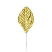 """OASIS Corsage Leaf - 2 1/4"""" - Foil Gold"""