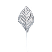 "OASIS Corsage Leaf - 2 1/4"" - Foil Silver"