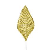 """OASIS Corsage Leaf - 3"""" - Foil Gold"""