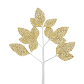 OASIS Corsage Leaf Spray - Glitter Gold - 6/Pack