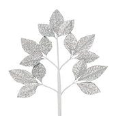 OASIS Corsage Leaf Spray - Glitter Silver - 6/Pack