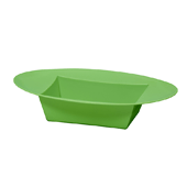 OASIS ESSENTIALS™ Oval Bowl - Apple Green - 12/Pack