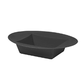 OASIS ESSENTIALS™ Oval Bowl - Onyx - 24 Case