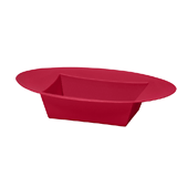 OASIS ESSENTIALS™ Oval Bowl - Red - 12/Pack