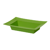 OASIS ESSENTIALS™ Rectangle Bowl - Apple Green - 12/Pack