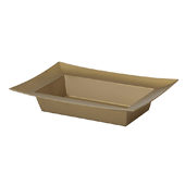 OASIS ESSENTIALS™ Rectangle Bowl - Gold - 12/Pack