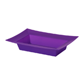OASIS ESSENTIALS™ Rectangle Bowl - Purple - 12/Pack