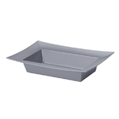 OASIS ESSENTIALS™ Rectangle Bowl - Silver - 12/Pack
