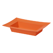OASIS ESSENTIALS™ Rectangle Bowl - Tangerine - 12/Pack