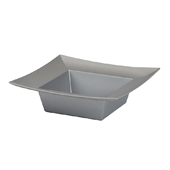 OASIS ESSENTIALS™ Square Bowl - Silver - 12/Pack