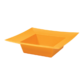 OASIS ESSENTIALS™ Square Bowl - Tangerine - 12/Pack