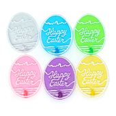 "Easter OASIS Floral Picks - 3"" Glitter Egg Assortment - 12/Pack"