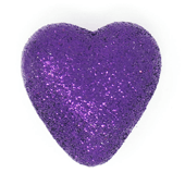 "Foam Solid Heart OASIS Floral Picks - 1 1/2"" Purple - 10/Pack"