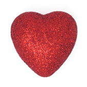 "Foam Solid Heart OASIS Floral Picks - 1 1/2"" Red - 10/Pack"